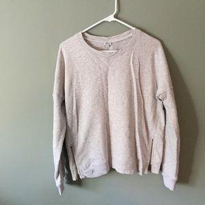 Grey Kismet Sweater with Zipper Details